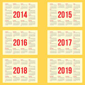 Calendar grid — Stock Vector