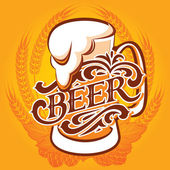 Beer menu — Stock Vector