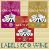 Labels for wine with grapes — Stock Vector