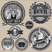 Set  retro icons to topic beer — Stock Photo