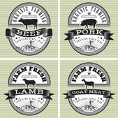 Icons pig, cow, sheep, goat — Stock Vector