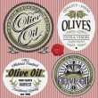 Set of vector labels for olive oil — Stock Vector #41677141