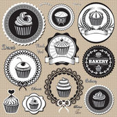 Icons for  baking and bakery — Vettoriale Stock