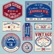 Vector set of vintage labels for clothes — Stock Vector #47380695