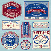 Vector set of vintage labels for clothes — Stock Vector