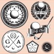 Set of emblems to topic golf game — Vecteur #48140287