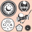Set of emblems to topic golf game — Vetor de Stock  #48140287