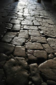 The old cobblestone pavers — Stock Photo