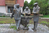 """Monument to the heroes of the comedy """"Mimino"""" in Dilijan. Armeni — Stock Photo"""