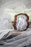 Wedding blessing icon and accessories — Stock Photo