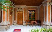 Aziatische veranda van hout — Stockfoto