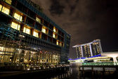 在新加坡的夜 — 图库照片