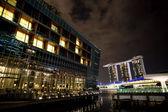 Nacht in singapur — Stockfoto