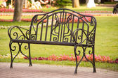 Bench in the park — Fotografia Stock
