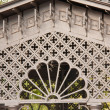 Stock Photo: Ornamental lattice gazebo in garden
