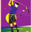 Playing golf like a melody — Stock Vector #43373751