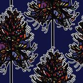 бесшовный фон абстрактный рождественская елка — Cтоковый вектор