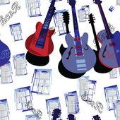 Guitar backdrop — Stock Vector