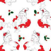 Neşeli Noel Baba desen — Stok Vektör