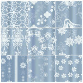 Blue patterns set — Stock Vector