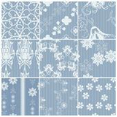 Blue patterns set — Stock Vector