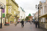 NIZHNY NOVGOROD - 31 AUGUST: Bolshaia Pokrovskaia Street on Augu — Stock Photo