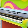 Stock Photo: Colorful old piano outdoors