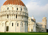 Piazza dei Miracoli - Miracles square in Pisa Italy — Stock Photo