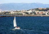 Cagliari is the capital of island Sardinia Italy — Stock Photo