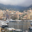 View of luxury yachts in harbor of Monte Carlo in Monaco — Stock Photo