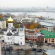 Panoramic view Nizhny Novgorod in october - Stock Photo