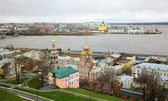 Nizhny Novgorod panoramic cityscape in november — Stock Photo