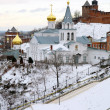Church of Elijah the Prophet and Kremlin Nizhny Novgorod — Stock Photo