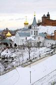 Church of Elijah the Prophet and Kremlin Nizhny Novgorod — Stock Photo