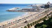 Harbour and railway in Tarragona Spain — Foto de Stock