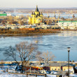December view of Cathedral Nevsky Nizhny Novgorod — Stock Photo