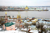 December view Stroganov Church, Cathedral Nevsky Nizhny Novgorod — Stock Photo