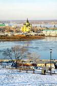 December view of Cathedral Nevsky Nizhny Novgorod — Stock Photo