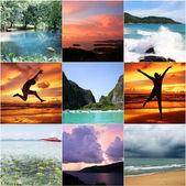 Collage de tailandia hermosa — Foto de Stock