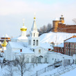 Panoramic January view Church Elijah Prophet and Kremlin — Stock Photo