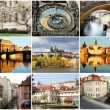 Collage beautiful Prague - Stock Photo