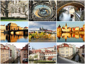Collage beautiful Prague — Stock Photo