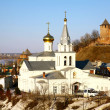 Church Elijah the Prophet and Kremlin Nizhny Novgorod Russia — Stock Photo