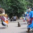 Stock Video: Native American Indian music and dance at Bolshaya Pokrovskaya street in Nizhny Novgorod Russia