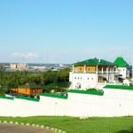 Постер, плакат: Panorama Pechersky Ascension Monastery Nizhny Novgorod