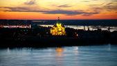 Sunset view of Alexandr Nevsky Cathedral Nizhny Novgorod — 图库照片
