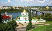 Summer Annunciation Monastery and Nevsky Cathedral Nizhny Novgor — Stock Photo