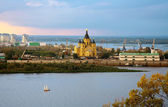 Beautiful Alexander Nevsky Cathedral on the confluence rivers — Stock Photo
