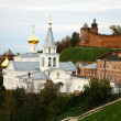 Stock Photo: Autumn Church Elijah Prophet and Kremlin Nizhny Novgorod