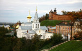 Autumn Church Elijah the Prophet and Kremlin Nizhny Novgorod — Stock Photo